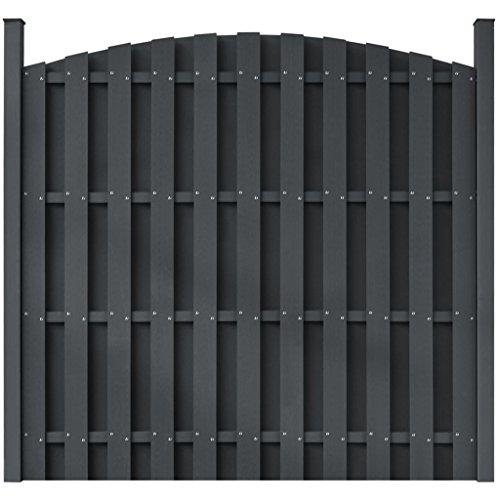 Tidyard WPC-Zaunelement mit 2 Pfosten Quadratisch Zaunplatte Sichtschutzzaun Windschutzzaun Gartenzaun