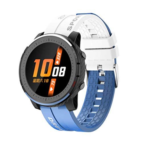 Nuevo LV69 Bluetooth Llamada Pulsera Inteligente de Dos Colores Shuangpin Fashion Sports Health Pulsera Reloj de Temperatura,B