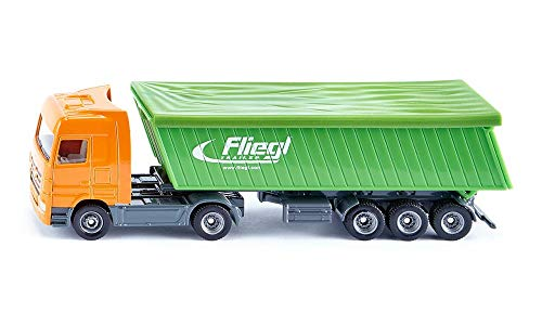 SIKU 1796 Super Lorry with Tipper and Semi-Trailer, Green/Orang