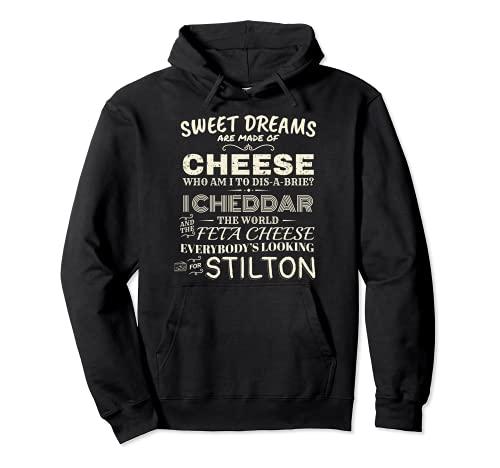 Diseño de queso feta inspirado en la canción del queso chedd Sudadera con Capucha
