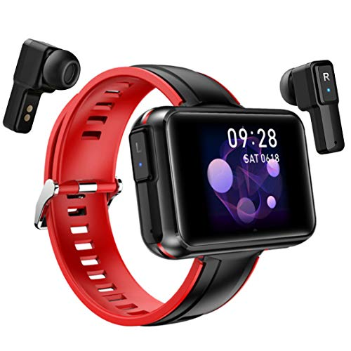 JKC Bluetooth Earbuds Smart Watch, Earphone Fitness Tracker Bracelet with Heart Rate Blood Pressure Monitor, Earphone Inside Smartwatch with Sleep Calorie Monitor, Compatible with Android and iOS