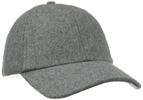 San Diego Hat Company Women's Wool Baseball Hat with Adjustable Back, Charcoal, One Size