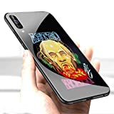 Luxury Cover for Samsung Galaxy S10 Phone Case,9H Tempered Glass Back Cover Soft Silicone Anti Scratch Bumper Design LC-125 Pop Travis Scott astroworld Protective Case