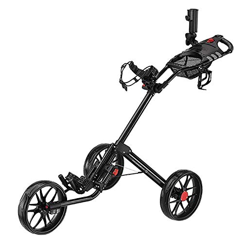 CaddyTek Golftrolley 3 Rad Golfwagen Super Quad Fold