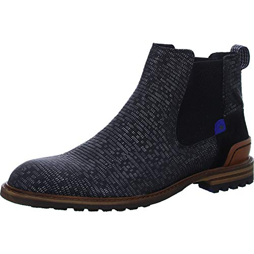 Floris van Bommel Herren 10230/15 Chelsea Boots, Schwarz (Black Lizard 15), 44 EU