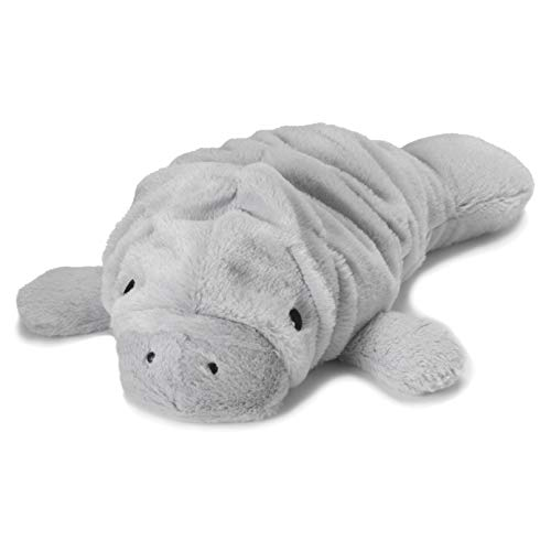 Intelex Warmies Microwavable French Lavender Scented Plush, Manatee Warmies, Gray, 14' X 8' X 4'
