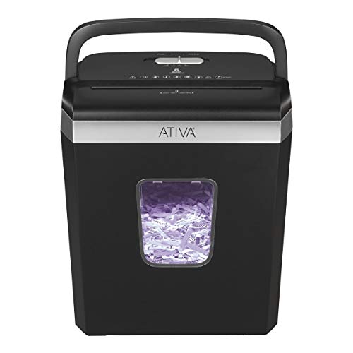 Ativa 6-Sheet Cross-Cut Shredder, Black, A06CC19