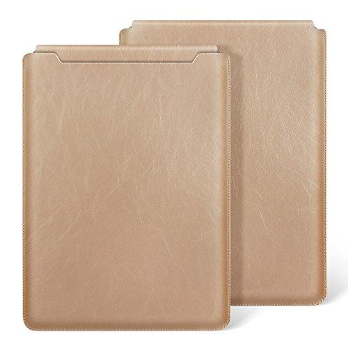 Ayotu Macbook Air 13 Zoll Laptop Hülle Wasserdicht PU Leder für Macbook Air 13 (A1369/A1466)/ Pro 13 Retina 13.3 Zoll (A1425/A1502) Notebooktasche Schutzhülle Hülle Leather Sleeve Hülle,Champagner Gold