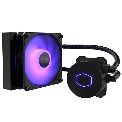 Cooler Master MasterLiquid ML120L RGB V2, Close-Loop AIO CPU Liquid Cooler, 120 Radiator, SickleFlow 120mm, RGB Lighting, 3rd Gen Dual Chamber Pump for AMD Ryzen/Intel LGA1200/1151