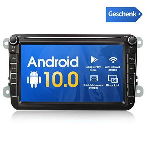 Android 10.0 2Din 8-Zoll AutoRadio Multimedia Video Player mit Navi GPS WiFi USB DAB+ Stereo Bluetooth mirrorlink rückfahrkamera Touchscreen Kompatibel für vw/Skoda/SEAT/Golf 5 6/Polo/Octavia/T5