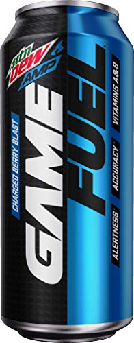 Mountain Dew Game Fuel, Charged Berry Blast, 16 Fl Oz. Cans (12 Pack) (Packaging May Vary)