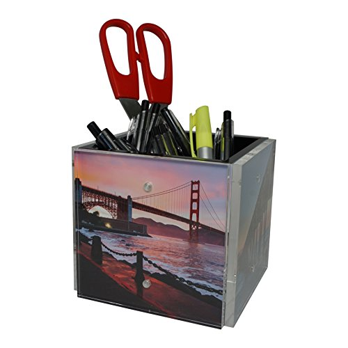 Nicom 4-Sided Photo Block Cube, 4' (Instagram) Size for Home or Office Desk