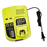P117 18V One+ Dual Chemistry Fast Battery Charger for Ryobi 12V-18V Max Battery P117 P118 , Replacement for Ryobi ONE+ Lithium-Ion Ni-Cd Ni-Mh Battery P200 P102 P105 P107 P108 P101 with 2 USB Ports