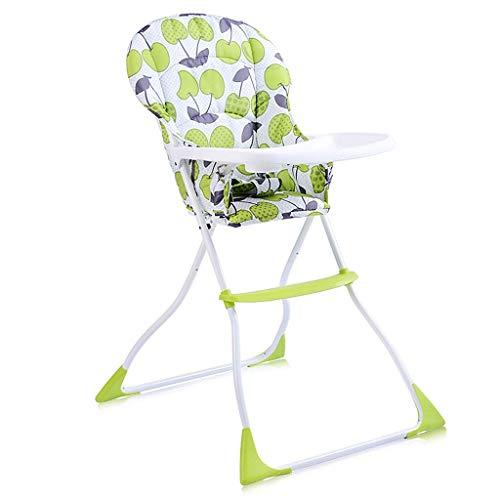 WYJW Tragbarer klappbarer Babyhochstuhl zum Essen Kleinkind Sitzerhöhung für Esstisch mit abnehmbaren Kissen und faltbarem Platzspar-Fütterungsstuhl (Farbe: Kirsche)