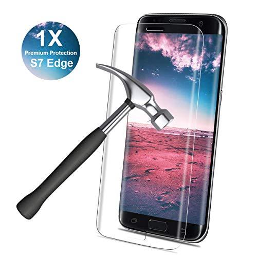 YIEASY 1 Stück Panzerglas für Samsung Galaxy S7 Edge, 9H Härte, Fingerabdrucksensor Kompatible Displayschutzfolie, 3D Vollständige Abdeckung, Anti-Öl, Panzerglasfolie Schutzfolie für Galaxy S8 Edge