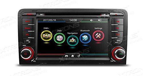 XTRONS 7 pulgadas HD pantalla táctil digital dual CANbus coche estéreo Radios reproductor de DVD GPS pantalla espejo función DAB+Kudos mapa para Audi A3/S3/RS3
