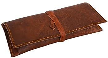 Leder Nature Felix  Genuine Leather Stationery Pencil Pen Case Art Pouch Office Uni College Smart Everyday Vintage Unisex Brown