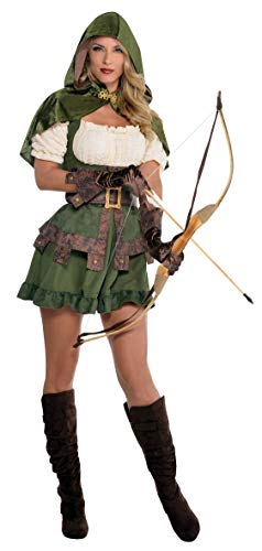 amscan 844571-55 Damenkostüm Robin Hoodie, Mehrfarbig, S
