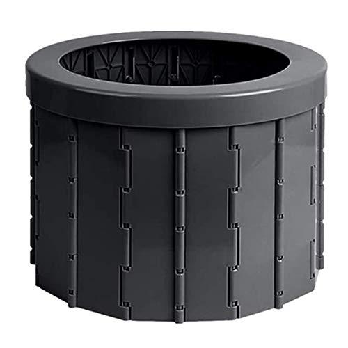 Pillows-RJF Tragbare Toilette mit klappbarem Toilettensitz, geeignet für Outdoor-Camping, kann 150 kg PVC-Kunststoff, oval, Reise