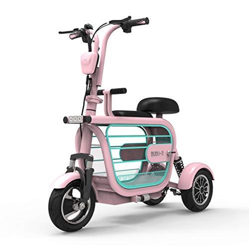 LLPDD Elektrische scooter, draagbare opvouwbare elektrische scooter, 3 wielen, voor volwassenen en tieners