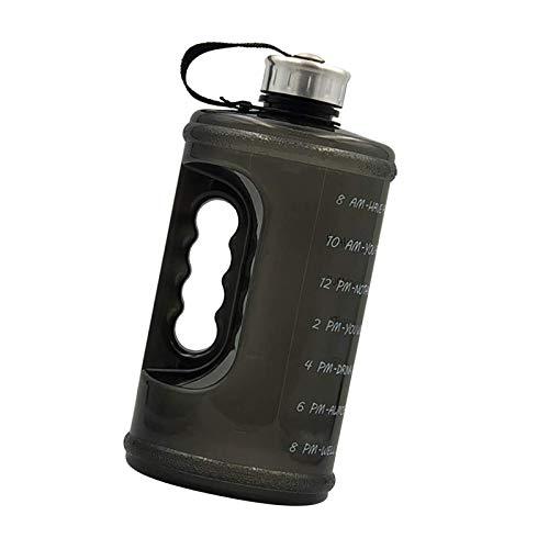 litulituhallo Botella de agua de 2,2 l de gran capacidad para fitness, deportes, entrenamiento, taza de agua con marcador de tiempo