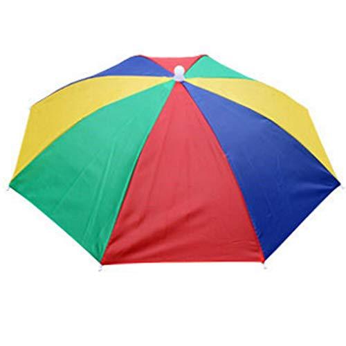 WHDXYM Zonnescherm voor kinderen, met anti-uv-bescherming, strand, camping, hoofddeksel, paraplu 1