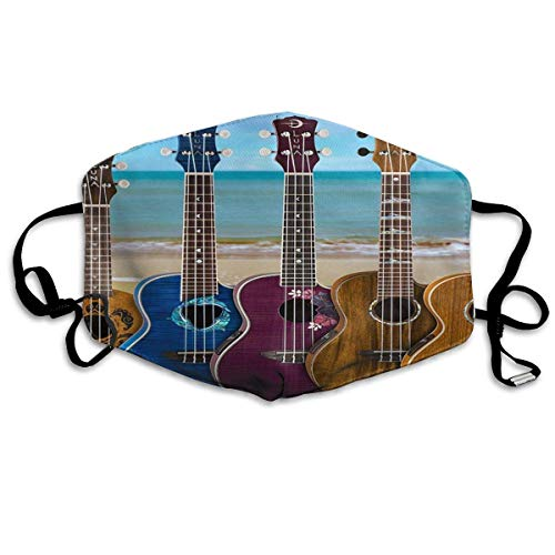 Máscara anti atardecer tipo fresco de guitarra, música de playa, máscara de boca resualble, pasamontañas para hombres y mujeres