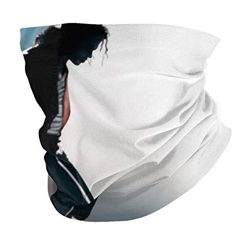 AmyNovelty Neck Scarf Wrap,Mich-Ael Jack-Son - Diadema Unisex, Cómodos Pasamontañas para El Cuello para Pescar En Motociclismo,25x50cm