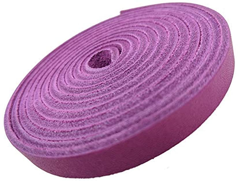 Leather Strap 3/8 Inch Wide 72 Inches Long by TOFL (Magenta)