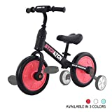 Zavofly Balance Bike for 2-5 Years Old Boys & Girls, 4-in-1 Kids Bike with Training Wheels & Pedals (Red)