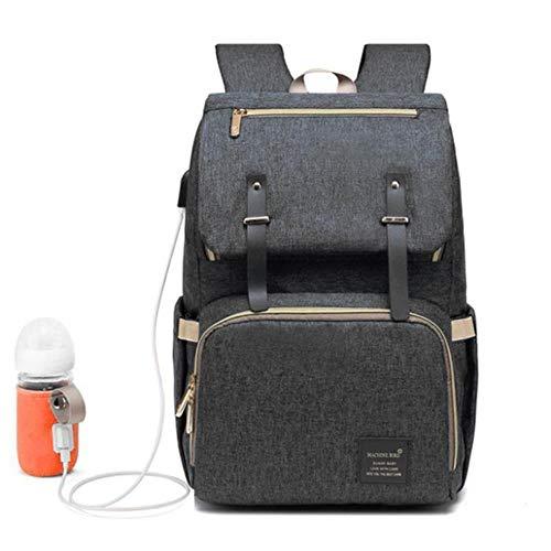 Mode baby luiertas rugzak met USB grote luiertas moederschap voor mama papa waterdichte laptop rugzak verzorgingstassen, 3e zwart