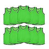 Ronex Sports Petos de Entrenamiento para niños, jóvenes y Adultos (Petos Deportivos, Petos de Futbol) - Pack de 10 Unidades