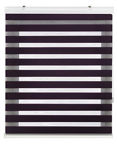 Blindecor Vela - Estor enrollable doble tejido, noche y día, color violeta,...