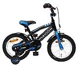 AMIGO BMX Fun - Kinderfahrrad - 14 Zoll - Jungen - mit Rücktritt und Stützräder - ab 3 Jahre -...