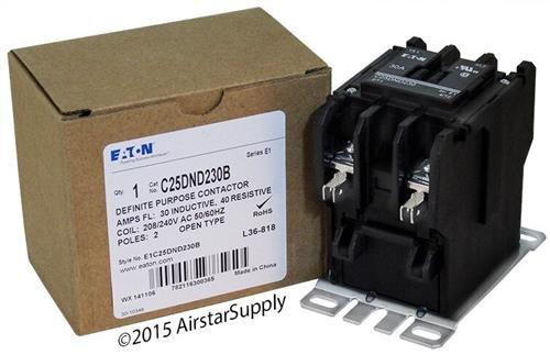 EATON CUTLER HAMMER C25DND230B OPEN N-R 2P 30A DP CONT SCR/PP W/QC TERM 240VAC COIL