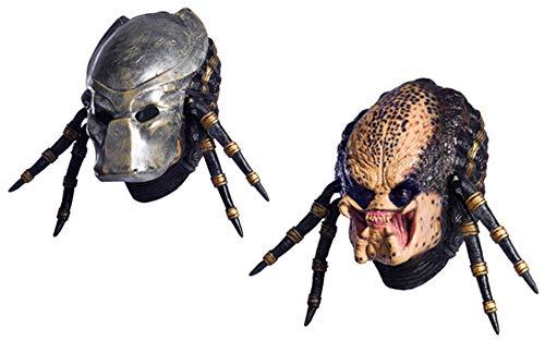 Rubie's Costume Co Aliens vs predator requiem with deluxe overhead predator mask, Gray, One size