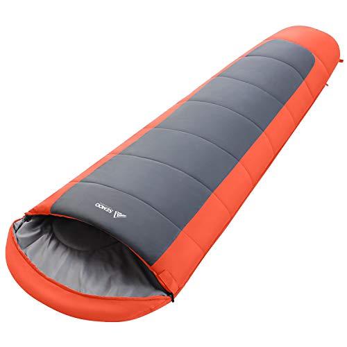 Semoo Mumienschlafsack 200 x 75 cm, 3/4 Jahreszeiten, Sommerschlafsack, Warmer Leichter Wasserdichter Schlafsack für Outdoor Camping