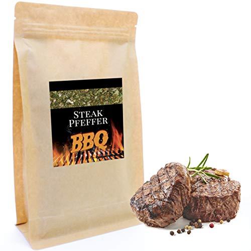 Steakpfeffer 200 g | Feinste Edel-Gewürzzubereitung für die Grillsaison | Nachfüllpack | Gewürz | Pfeffer als Rub, zum Grillen, Mariniern, in Aioli
