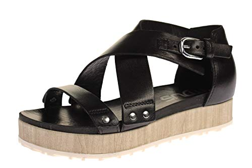 Mjus M06016-101-0002 - Damen Schuhe Sandaletten - Nero-beige, Größe:41 EU