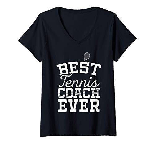 Mujer Regalo al mejor profesor de tenis de todos los tiempos Camiseta Cuello V