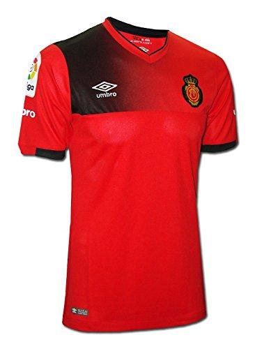 Umbro Prima Maglia RCD Mallorca 2016/2017–Maglietta di Calcio Ufficiale, Uomo, RCD Mallorca Home SS, Rosso, L