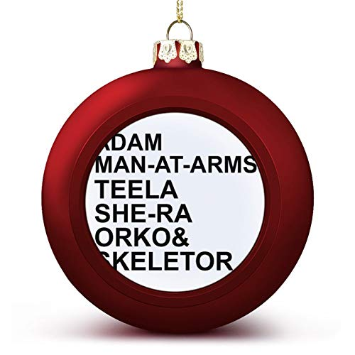 VNFDAS He Man Masters Of The Universe Character List Custom Christmas ball ornaments Beautifully decorated Christmas ball gadgets Perfect hanging ball for holiday wedding party decoration
