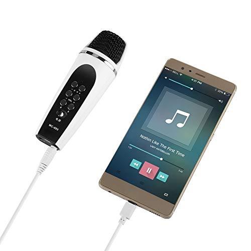 Stemwisselaar-microfoon, 3,5 mm-aansluiting, draagbaar mini-stemwisselaarapparaat met 4 spraakconversiemodi voor iPhone / Android / smartphone / pc