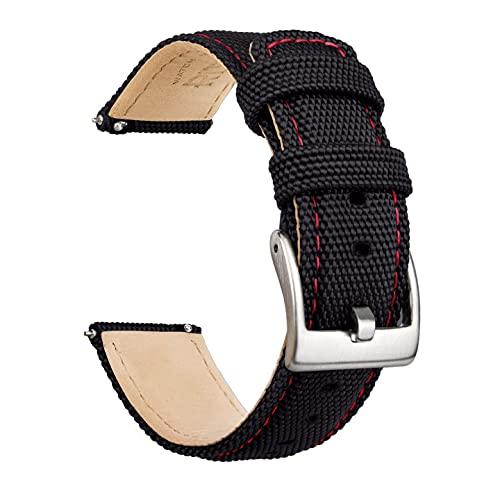Ritche Sailcloth - Correa de reloj de liberación rápida compatible con Timex / Seiko / Fossil / Citizen Watch Band para hombres y mujeres, 18 mm, Tela de vela.,