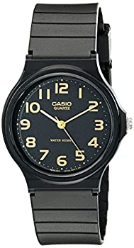 Casio Men s MQ24-1B2 Watch with Black Resin Band