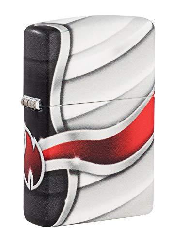 Zippo Unisex-Erwachsene Pocket Lighter Feuerzeug, 540 Color Flame Logo Design, Einheitsgröße