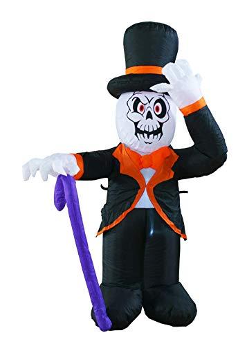 4 Foot Halloween Inflatable Reaper Ghost Gentlemen Decoration Lantern for Home Yard Garden Lawn Indoor and Outdoor Party