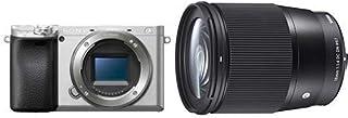ソニー SONY ミラーレス一眼 α6400 ボディ シルバー 120mm×66.9mm×48.8mm ILCE-6400 S + SIGMA 16mm F1.4 DC DN | Contemporary C017 | Sony Eマウント |...