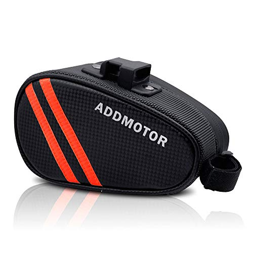 Best Review Of Addmotor Strap-On Bike Saddle Bag Bicycle Seat Pack Storage Bag, Waterproof Cycling Wedge Pack Bag with Quick Release Locks