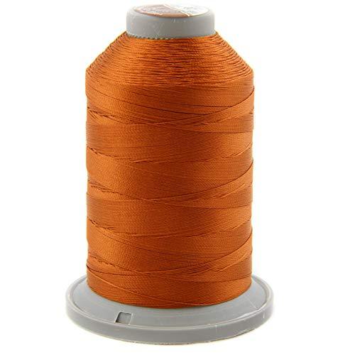 NTS Nähtechnik 1000 m de hilo de coser, hilo de cuero 20, selección de colores, hilo de filamento para cuero (rojo oxidado)